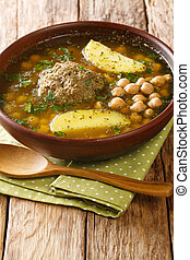 Homemade Kufta bozbash is a traditional Azerbaijani meatball...