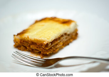 homemade lasagne on a plate