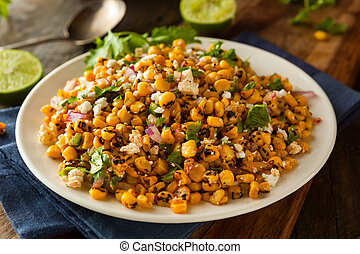 Homemade Mexican Corn Salad with Cilantro Lime and Cheese