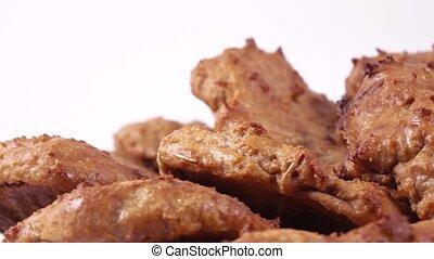Homemade oatmeal cookies - Stack of homemade oatmeal cookies