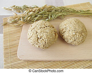 Homemade oats bread rolls