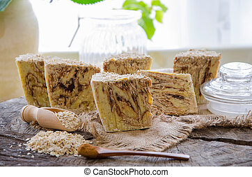 homemade oats soap