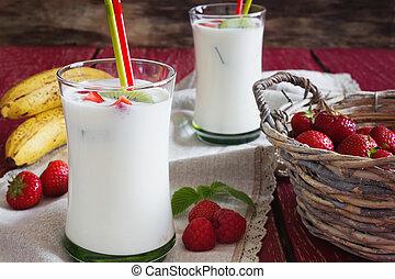 Homemade organic yogurt