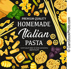 Homemade pasta cooking and Italian cuisine - Pasta in...