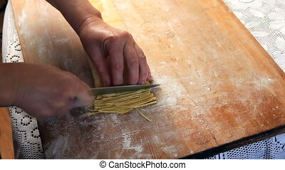 homemade pasta, noodles, home-made pasta