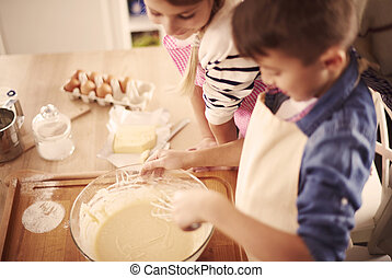 Homemade pastry made by children