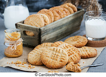 Homemade peanut butter cookies - Homemade freshly baked...