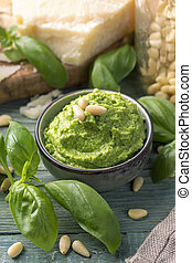 Homemade pesto
