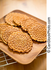 Homemade Pizzelle cookie