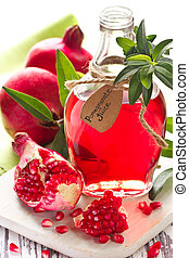 Homemade pomegranate juice. - Homemade pomegranate juice and...