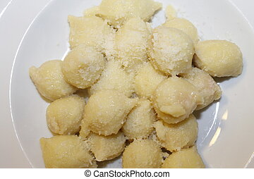 potato gnocchi - Homemade potato gnocchi with cheese
