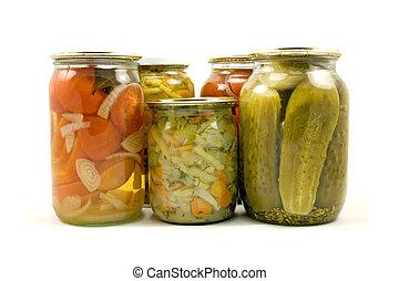 homemade preserved vegetables