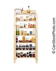 Homemade preserves - Shelves of homemade preserves and...