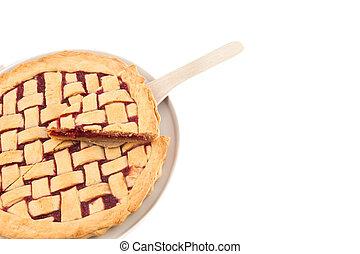 homemade raspberry pie on a plate