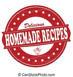 Homemade recipes - Stamp with text homemade recipes inside,...