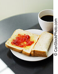Homemade Sandwich and Coffee cup background