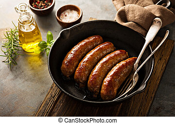 Homemade sausage with herbs and cheese - Homemade sausage ...