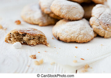 homemade shortbread cookies with chocolate
