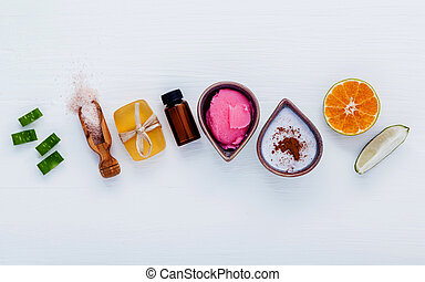 Homemade skin care and body scrubs with natural ingredients...
