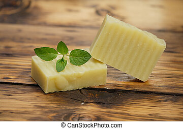Homemade soap - Homemade peppermint soap