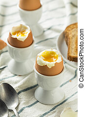 Homemade Soft Boiled Egg in a Cup