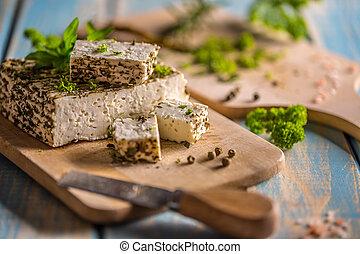 Homemade soft cheese