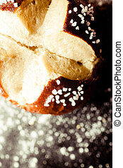 Homemade soft pretzel roll with salty crust - Homemade...
