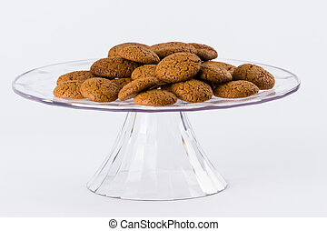 Homemade speculaas on white background