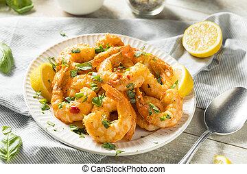 Homemade Spicy Garlic Shrimp