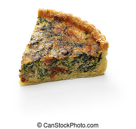 homemade spinach bacon quiche