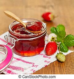 Strawberry Jam - Homemade Strawberry Jam. Selective focus.