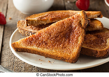 Homemade Sugar and Cinnamon Toast