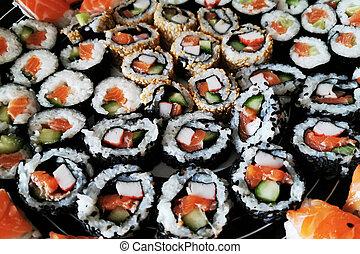 homemade sushi food texture