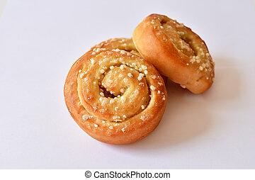 Homemade sweet buns rolls