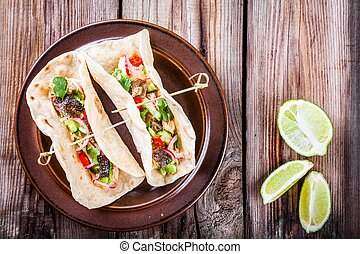 homemade tacos with salmon