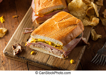 Homemade Traditional Cuban Sandwiches