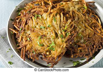 Homemade Traditional Potato Latkes