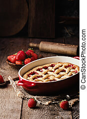 Traditional strawberry pie
