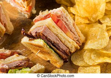 Homemade Turkey Club Sandwich