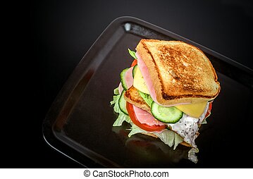 Homemade Turkey Sandwich with Lettuce