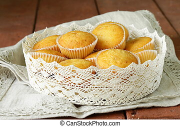 homemade vanilla muffins