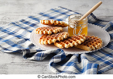 Homemade Viennese wafers