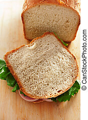 Homemade white bread for sandwiches