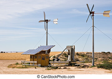 homemade wind and solar energy sources at an alternative ...