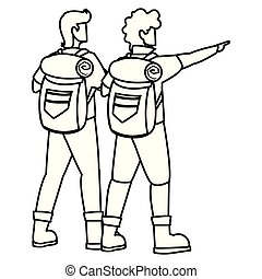 homens, aventuroso, travelbag