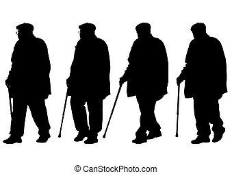 homens idosos