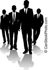 homens, negócio, seta