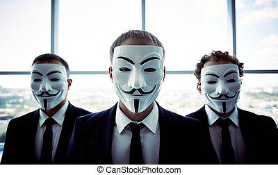 homens negócios, anônimo