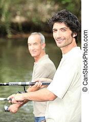 homens, pesca