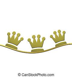 homens sábios, três, coroas, fundo, natal